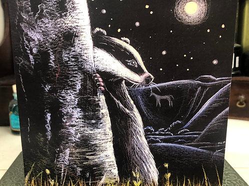 The Last Full Moon Greetings card