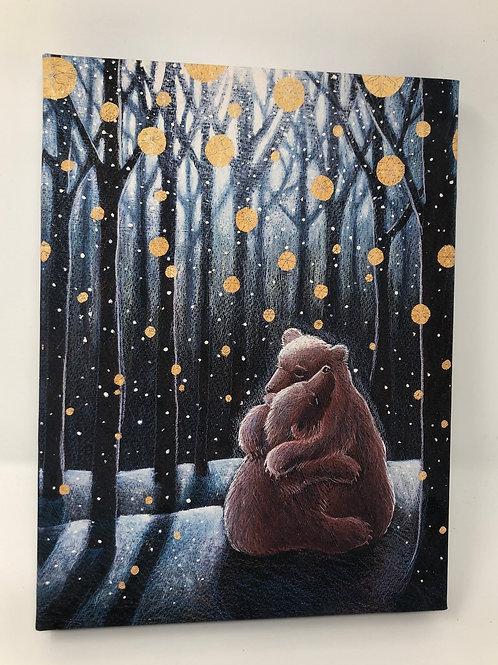 The Winter Hygge canvas box print handmade in our Hampshire studio