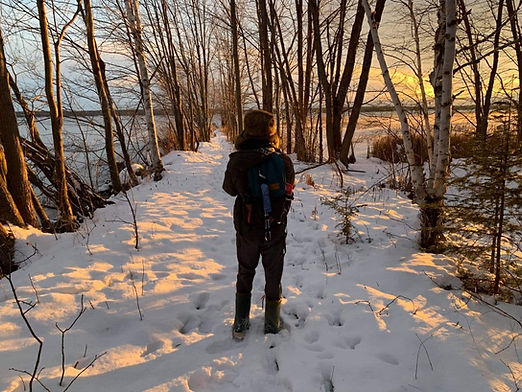 Watching Sunset in the Snow