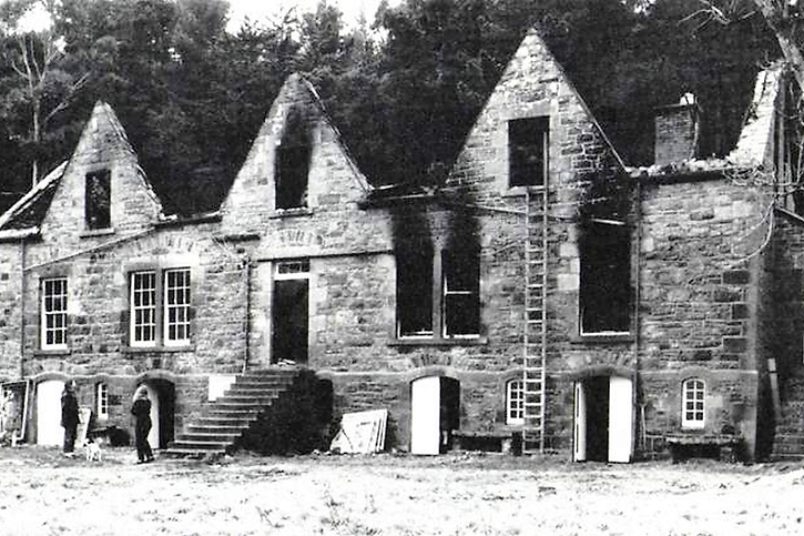 Fire damaged Old Stone House