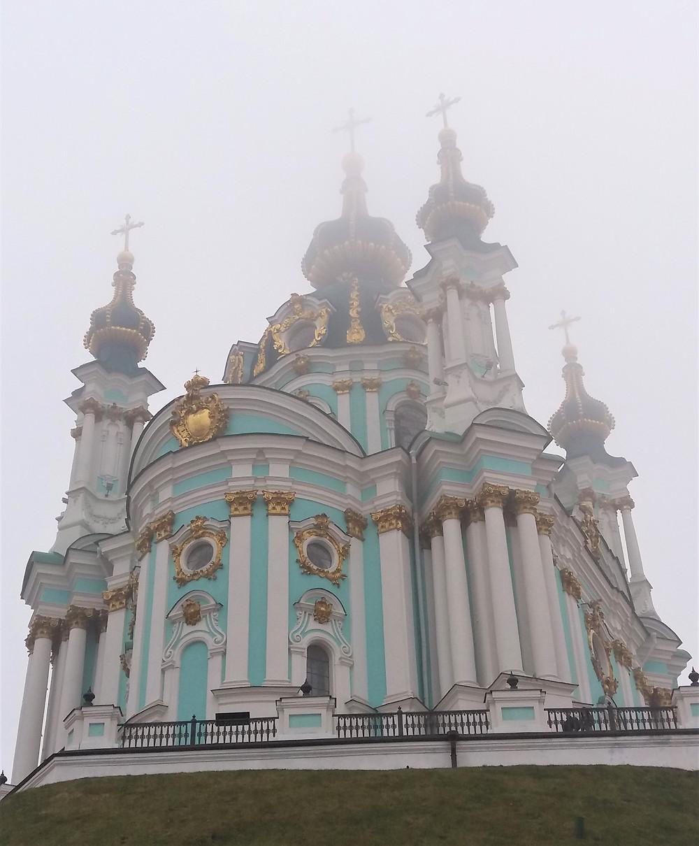 Foggy St Andrews Church, Kyiv, Ukraine ©MDHarding