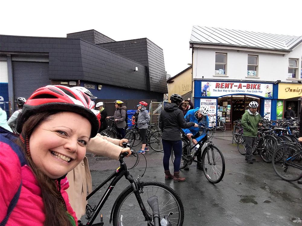 At Rent-A-Bike in Killarney, Ireland