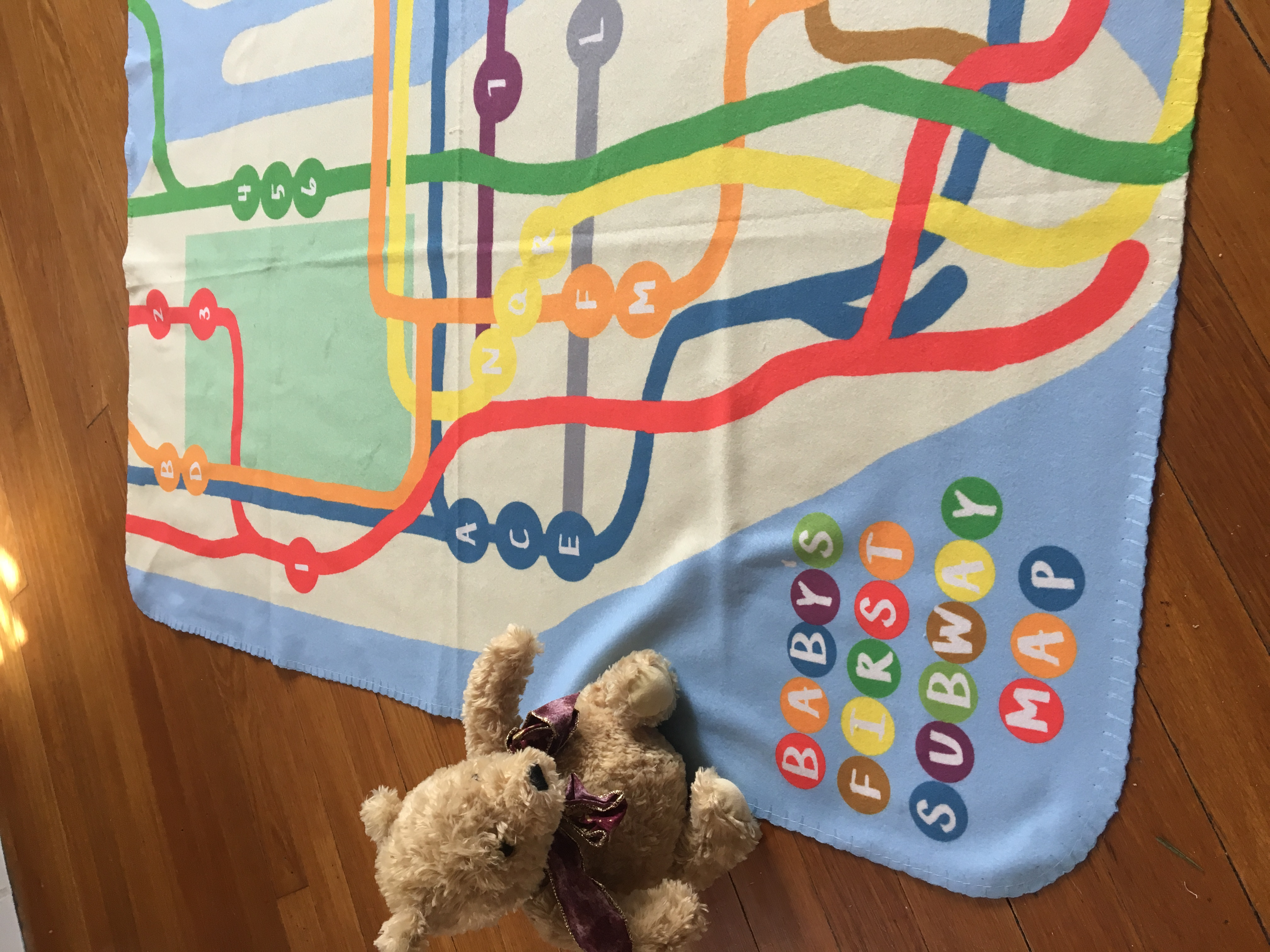 Baby's First Subway Map Baby Blanket