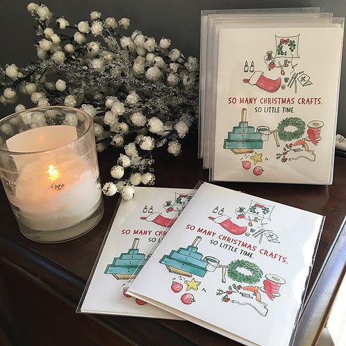 So Many Christmas Crafts, So Little Time Folded Holiday Card Boxed Set of 6