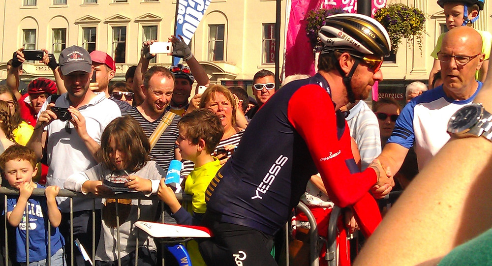 Bradley Wiggins George Square, Glasgow Start of Tour Of Britain