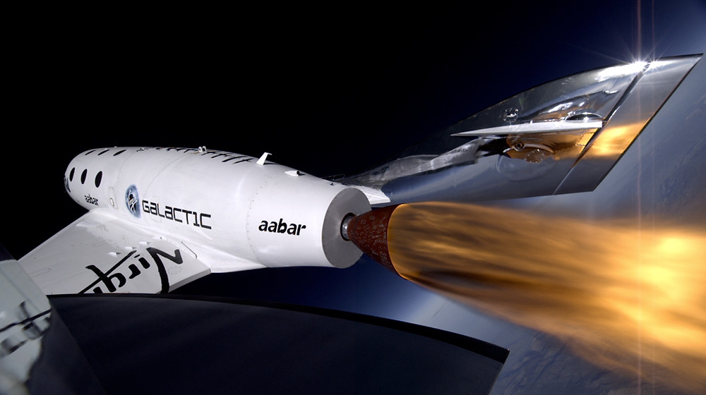 Virgin Galactic's first SpaceShipTwo during its third powered flight. ©Virgin Galactic