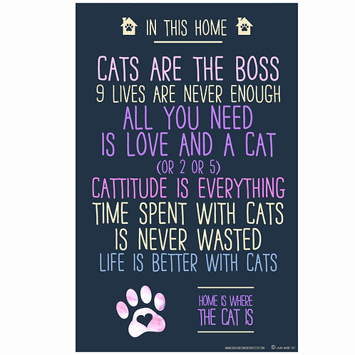 In This Home Cats Are the Boss