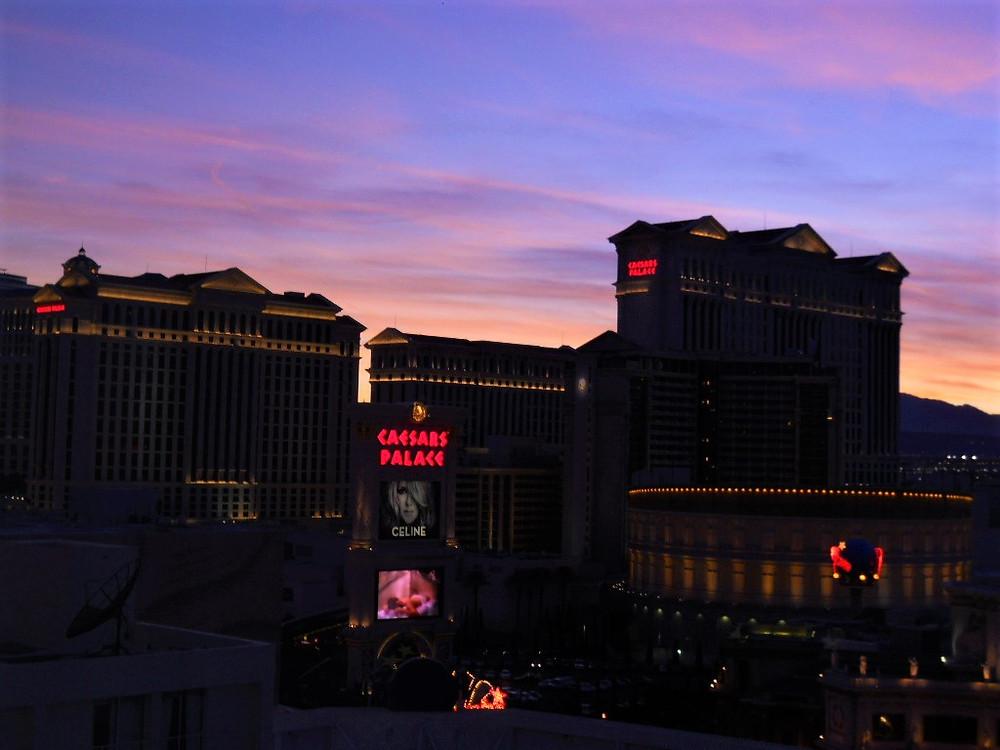 Caesars Palace at Sunset, Las Vegas