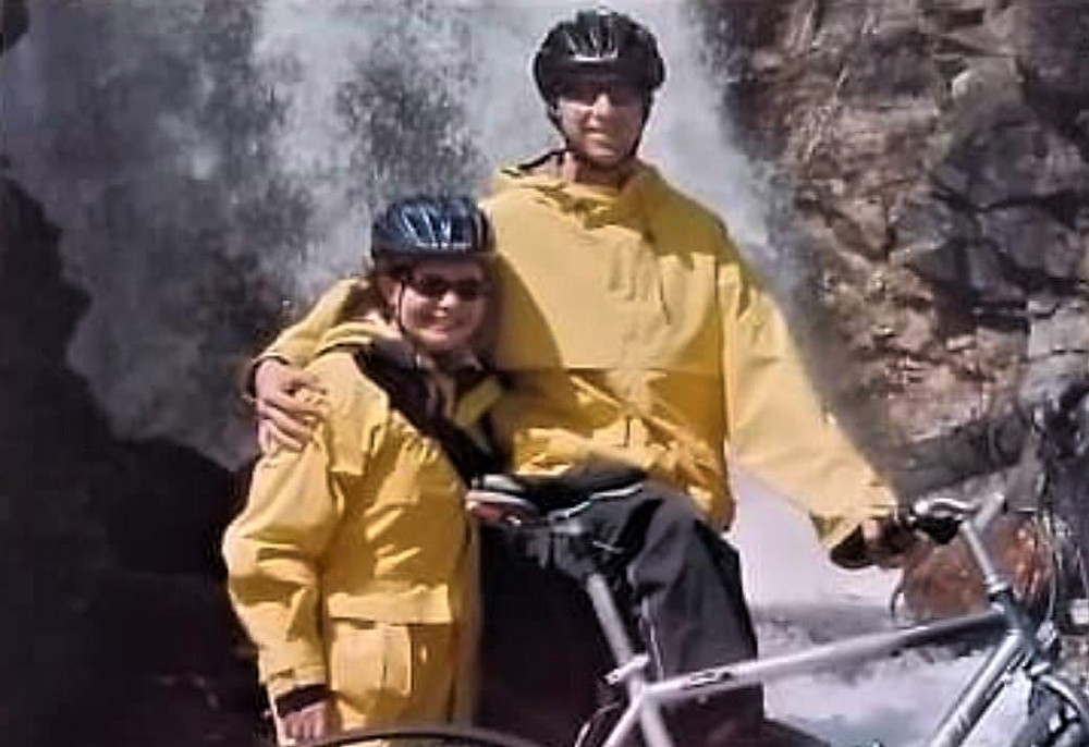 Enjoying the waterfalls and wilderness while cycling in Alaska
