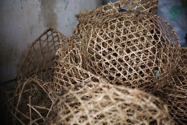 Ylang Ylang flower collecting baskets.