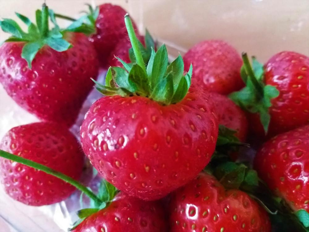 Red Juicy Strawberries