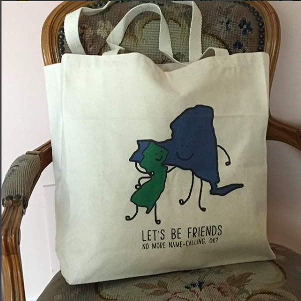 Let's Be Friends (NJ and NY states) Tote Bag