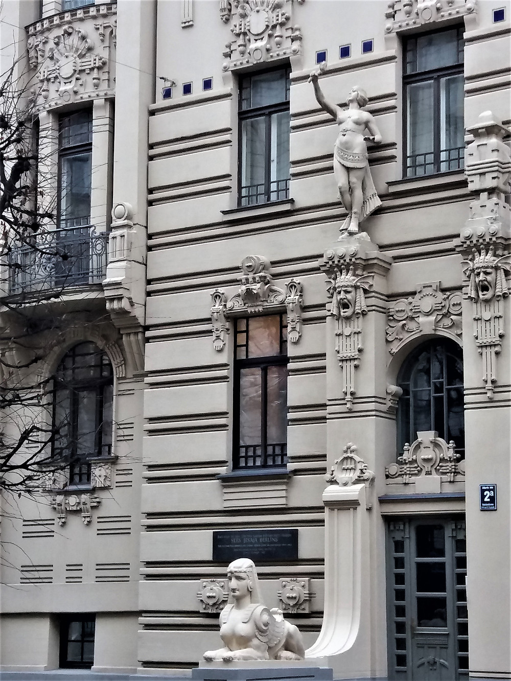 Egyptian Art Nouveau Style Facade 2a Albert Street, Riga, Latvia ©MDHarding
