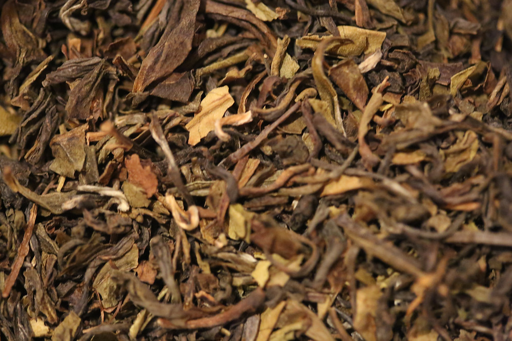 Fresh Darjeeling tea in it's natural form.