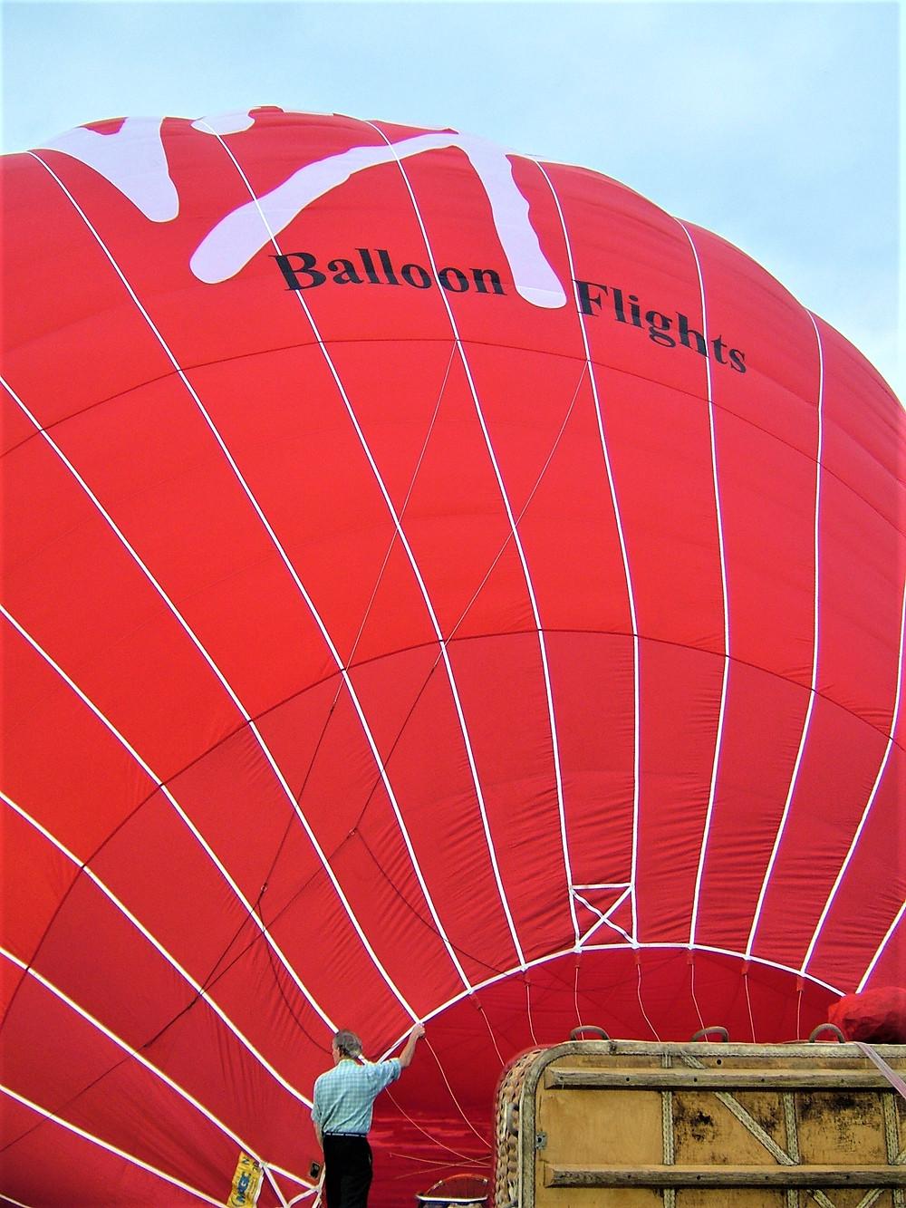 Red Virgin Hot Air Balloon