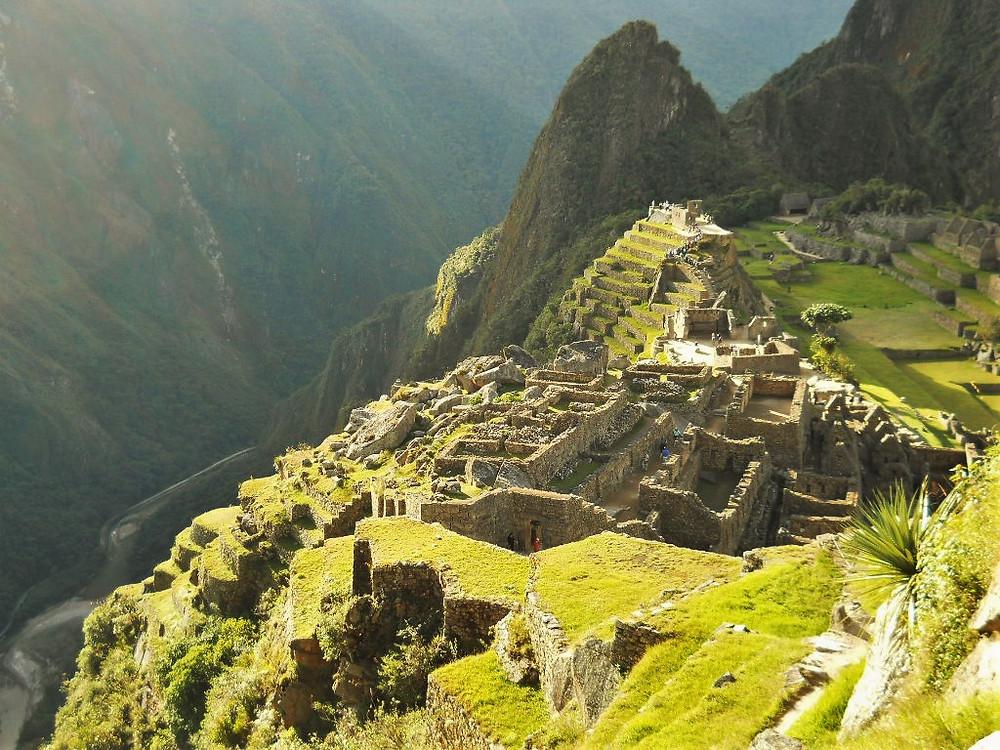 Vantage view over Machu Picchu, Peru.