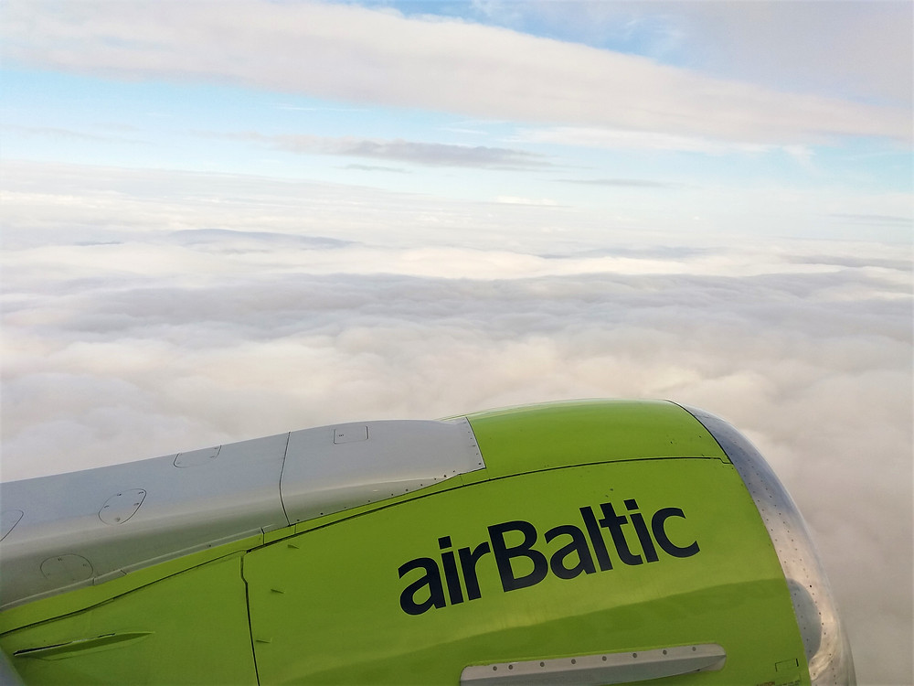 Air Baltic In Flight