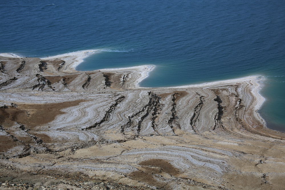 Layers of Coastal Salt, Dead Sea, Jordan