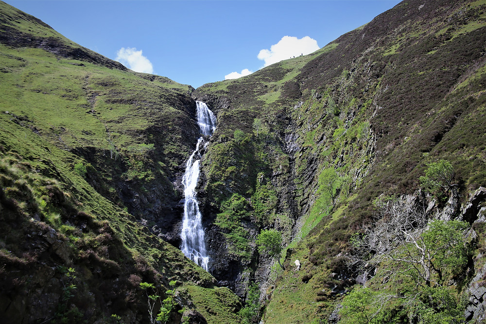 Grey Mare's Tail Waterfall in Dumfries and Galloway, Scotland.