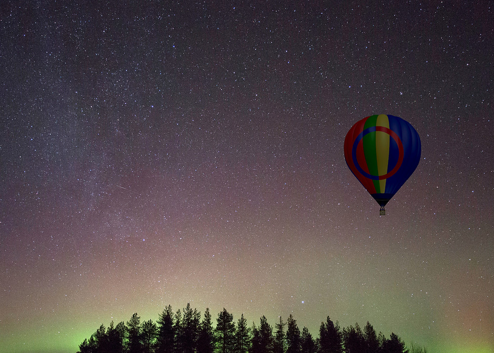 Evening Aurora and Stargazing Ballooning