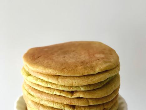 Natural Pandan Sourdough Pancake