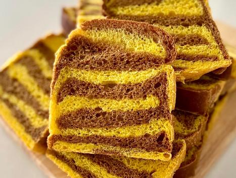 Bumblebee Stripes Sourdough Sandwich Loaf