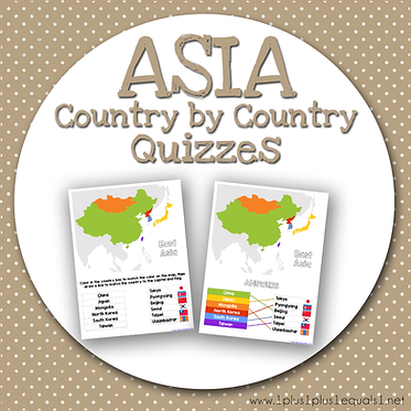 ASIA Country by Country QUIZZES