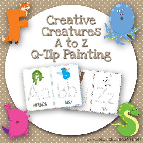Creative Creatures A to Z Q Tip Painting