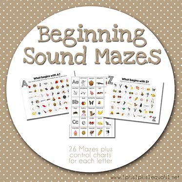 Beginning Sound Mazes