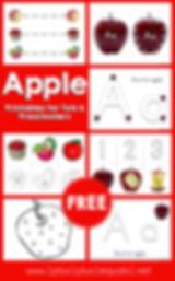 Free Letter A is for Apple Printables fo