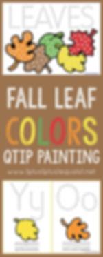Fall Leaf Colors Qtip Painting Free Prin