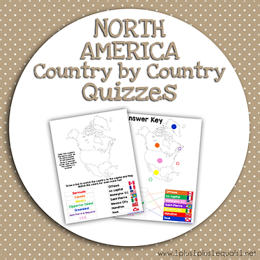 NORTH AMERICA Country by Country QUIZZES