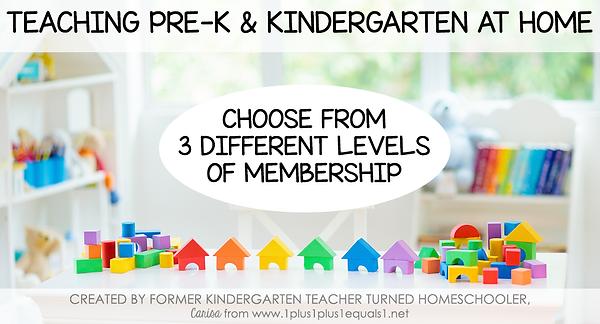 Teaching PreK and Kindergarten at Home M