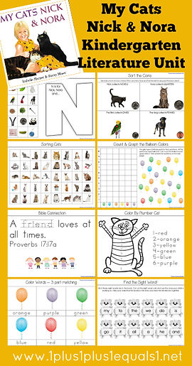 My Cats Nick and Nora Kindergarten Literature Unit Study Printables.jpg