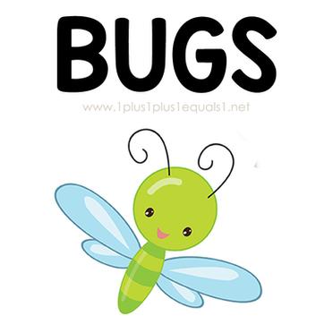 Bug Theme Printables and Ideas for Kids.