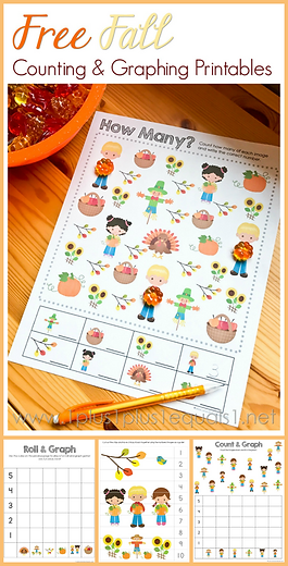 Free Fall Counting and Graphing Printabl