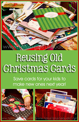 Reusing Old Christmas Cards for Kids to