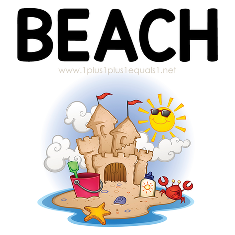 Beach Theme Printables and Ideas for Kid