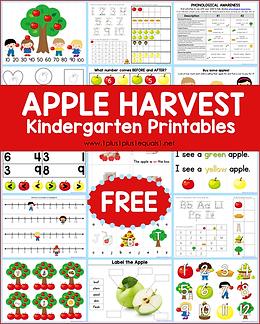 Apple Kindergarten Printables .png