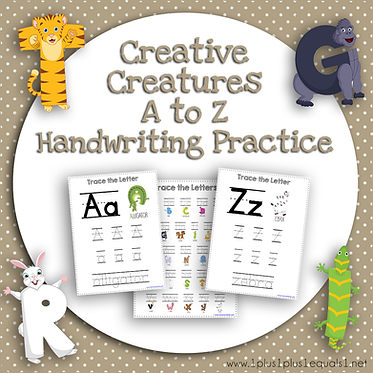 Creative Creatures A to Z Handwriting Practice