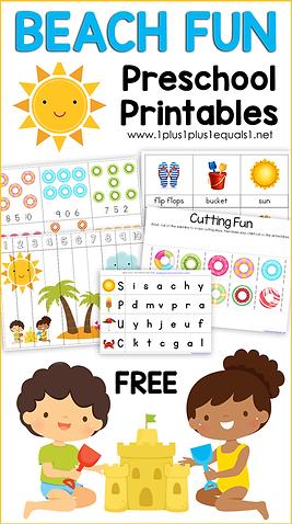 Beach Fun Preschool Printables.png