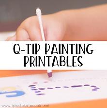 Popular Post Q-tip Painting Printables.p