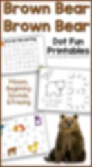 Brown Bear Brown Bear Dot Fun Printables