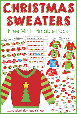 Christmas Sweaters Mini Printable Pack.p
