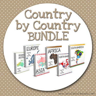 GROUP USE: Country by Country BUNDLE