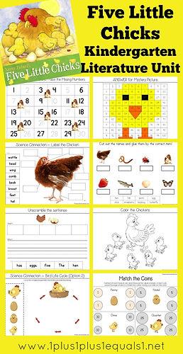 Five Little Chicks Kindergarten Literatu