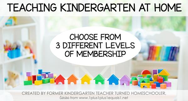 Teaching Kindergarten at Home Membership