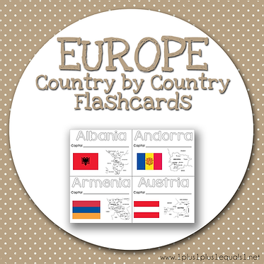 EUROPE Country by Country FLASHCARDS