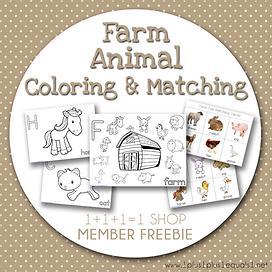 Farm Animal Fun FREEBIE from 1+1+1=1 Sho
