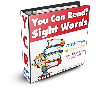 You Can Read Sight Words GROUP USE